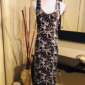 Gray & Black print maxi dress